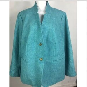Talbots Women's Plus Blazer Jacket Wool